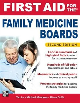 Book First Aid for the Family Medicine Boards, Second Edition by Tao Le