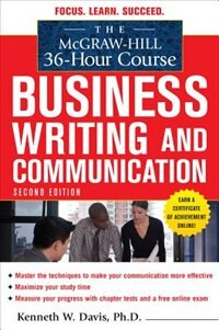 Book The McGraw-Hill 36-Hour Course in Business Writing and Communication, Second Edition by Kenneth Davis