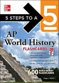 Book 5 Steps to a 5 AP World History Flashcards for your iPod with MP3 Disk by Peggy J. Martin