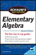 Book Schaum's Easy Outline of Elementary Algebra, Second Edition by Barnett Rich