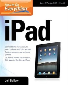 Book How to Do Everything iPad by Joli Ballew