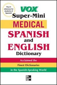 Book Vox Medical Spanish and English Dictionary by Vox