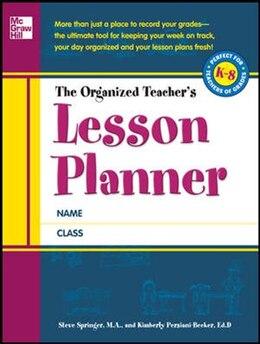 Book The Organized Teacher's Lesson Planner by Steve Springer