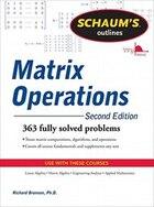 Schaum's Outline of Matrix Operations