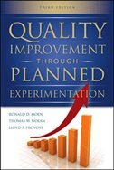 Book Quality Improvement Through Planned Experimentation 3/E by Ronald Moen