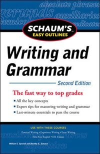 Book Schaum's Easy Outline of Writing and Grammar, Second Edition by William Spruiell