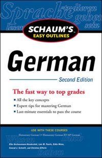 Book Schaum's Easy Outline of German, Second Edition by Elke Gschossmann-Hendershot