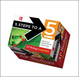 Book 5 Steps to a 5 AP Biology Flashcards by Mark Anestis