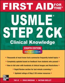 Book First Aid for the USMLE Step 2 CK, Eighth Edition by Tao Le