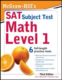 Book McGraw-Hill's SAT Subject Test Math Level 1, 3rd Edition by John Diehl