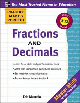Book Practice Makes Perfect: Fractions, Decimals, and Percents by Erin Muschla