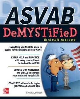 Book ASVAB DeMYSTiFieD by Cynthia Johnson