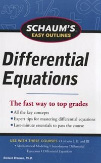Book Schaum's Easy Outline of Differential Equations, Revised Edition by Richard Bronson