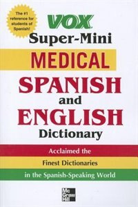 Book Vox Super-Mini Medical Spanish and English Dictionary by Vox