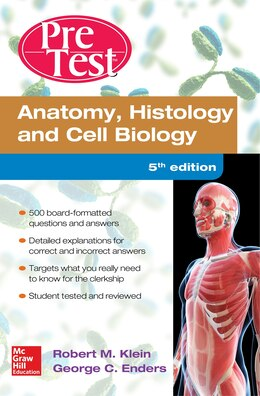 Book Anatomy Histology and Cell Biology PreTest Self-Assessment and Review 5/E by Robert Klein