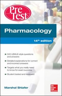 Book Pharmacology PreTest Self-Assessment and Review 14/E by Marshal Shlafer