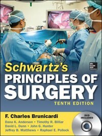 Book Schwartz's Principles of Surgery, 10th edition by F. Brunicardi