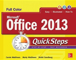 Book Microsoft® Office 2013 QuickSteps by Carole Matthews