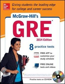 Book McGraw-Hill's GRE with CD-ROM, 2014 Edition: Strategies + 8 Practice Tests + Test Planner App by Steven Dulan