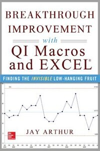 Book Breakthrough Improvement with QI Macros and Excel: Finding the Invisible Low-Hanging Fruit by Arthur, Jay