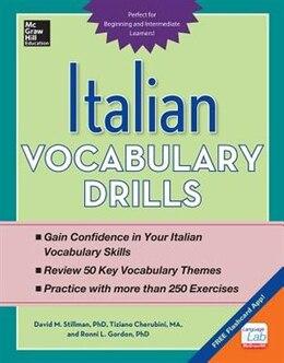 Book Italian Vocabulary Drills by David Stillman