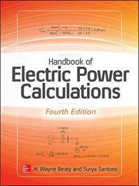Book Handbook of Electric Power Calculations, Fourth Edition by H. Wayne Beaty