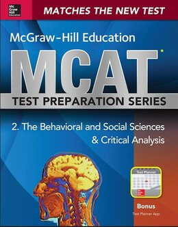 Book McGraw-Hill Education MCAT Behavioral and Social Sciences & Critical Analysis 2015, Cross-Platform… by George J. Hademenos