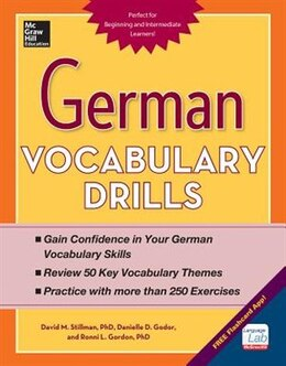 Book German Vocabulary Drills by David Stillman