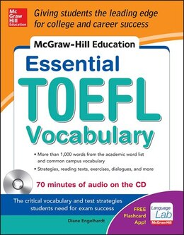 Book McGraw-Hill Education Essential Vocabulary for the TOEFL® Test with Audio Disk by Diane Engelhardt
