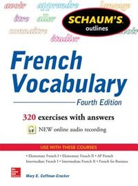 Book Schaum's Outline of French Vocabulary by Mary Crocker