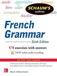 Book Schaum's Outline of French Grammar by Mary Crocker