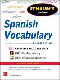 Book Schaum's Outline of Spanish Vocabulary, 4th Edition by Conrad Schmitt