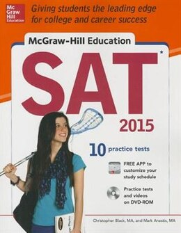 Book McGraw-Hill Education SAT with DVD-ROM, 2015 Edition by Christopher Black