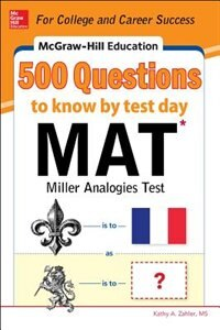 Book McGraw-Hill Education 500 MAT Questions to Know by Test Day by Kathy A. Zahler