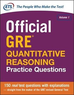 Book Official GRE Quantitative Reasoning Practice Questions by Educational Testing Service