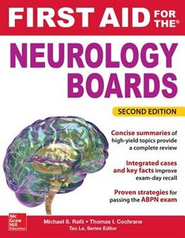 Book First Aid for the Neurology Boards, 2nd Edition by Michael Rafii