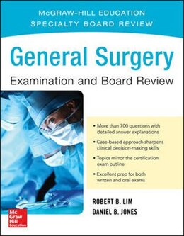 Book General Surgery Examination and Board Review by Robert B. Lim