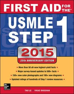 Book First Aid for the USMLE Step 1 2015 by Tao Le