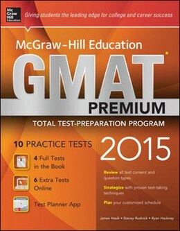 Book McGraw-Hill Education GMAT Premium, 2015 Edition by James Hasik