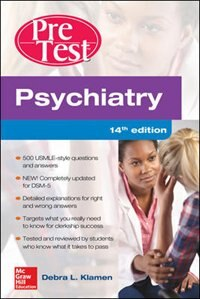 Book Psychiatry PreTest Self-Assessment And Review, 14th Edition by Debra Klamen