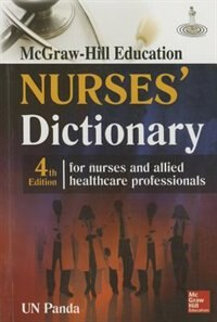 Book McGraw-Hill Nurse's Dictionary, Fourth Edition by U Panda