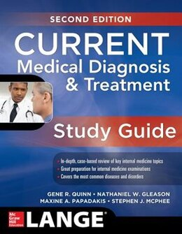 Book CURRENT Medical Diagnosis and Treatment Study Guide, 2E by Gene Quinn