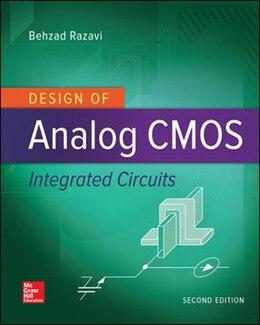 Book Design of Analog CMOS Integrated Circuits by Behzad Razavi