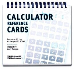 Book Calculator Reference Cards for the Casio fx-260 by Contemporary