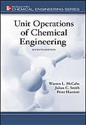 Book Unit Operations of Chemical Engineering by Warren McCabe