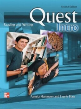 Book Quest: Reading and Writing Intro Audio CD (1): 2nd edition by Pamela Hartmann