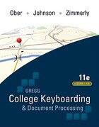 Gregg College Keyboarding & Document Processing (GDP); Lessons 1-120, main text
