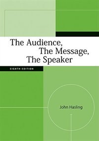 Book The Audience, The Message, The Speaker by John Hasling