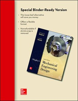 Book Loose Leaf for Shigley's Mechanical Engineering Design by Richard Budynas