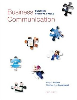 Book Business Communication: Building Critical Skills by Kitty Locker